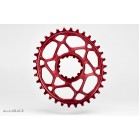AbsoluteBLACK OVAL Direct Mount Traction Chainring for Sram Gxp